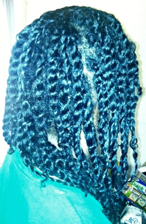two strand twists on fine hair