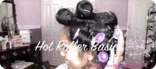 hot rollers tutorial