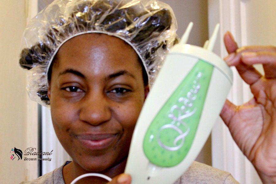steaming natural hair
