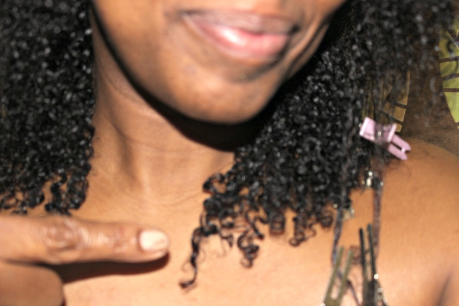 curls on fine natural hair