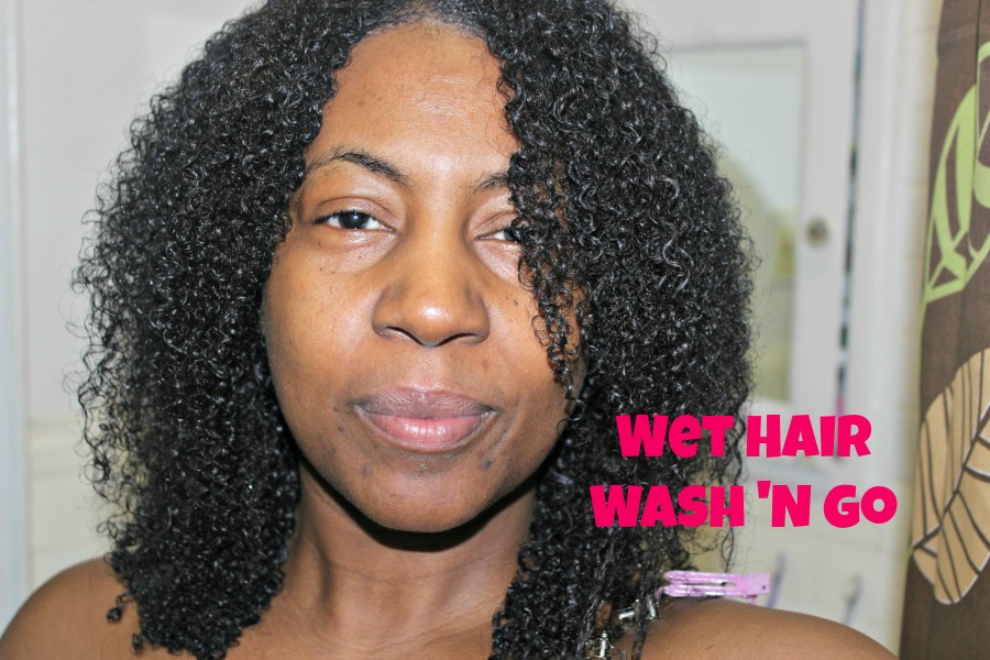 wet hair wash and go