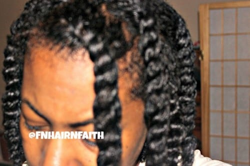 shiny fine natural hair twists