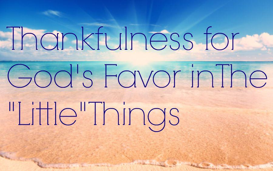 thankfulness for Gods favor