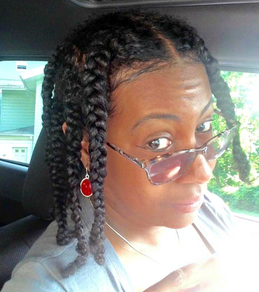 braided fine natural hair