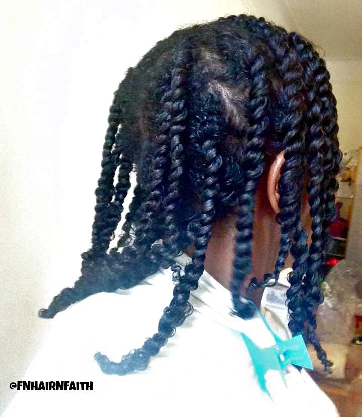 detangled fine natural hair