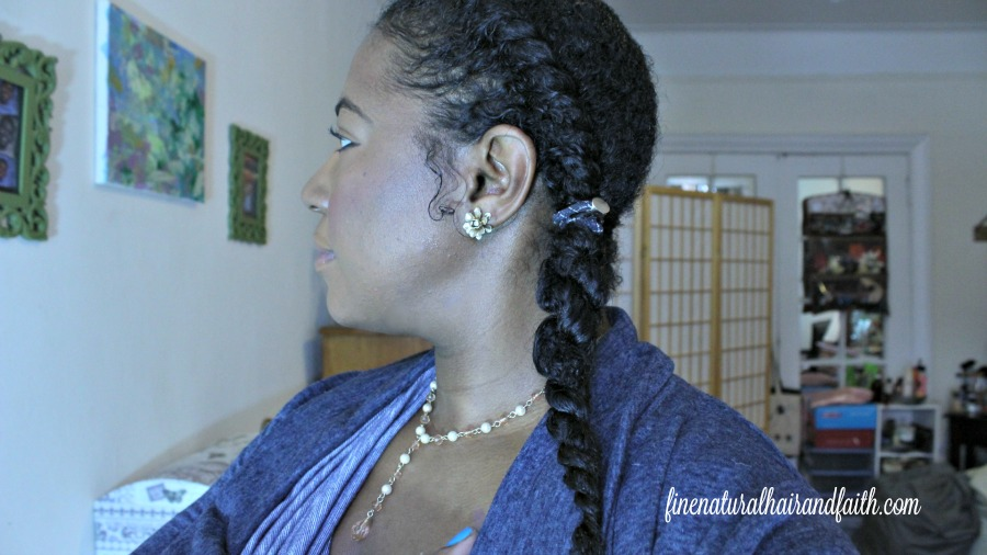 Half Hearted Wash Day Produces Cute Protective Style Fine Natural Hair Faith
