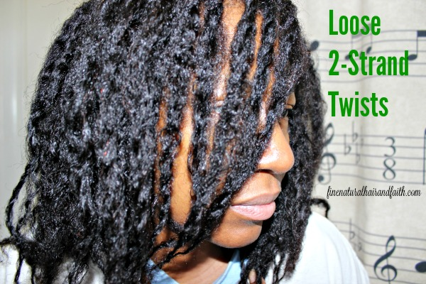 loose twists on fine natural hair