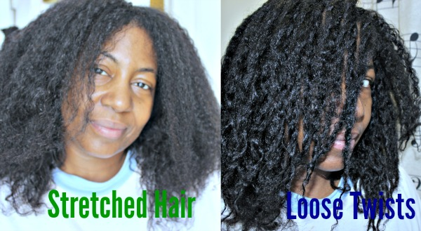 loose two strand twists before and after