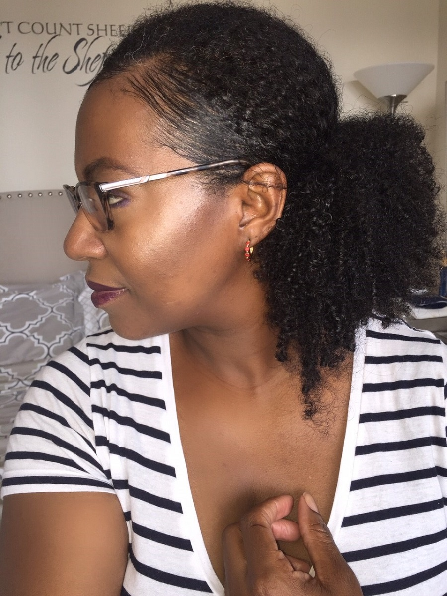 fuller ponytal on fine natural hair