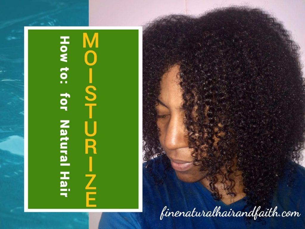 moisturizing natural hair