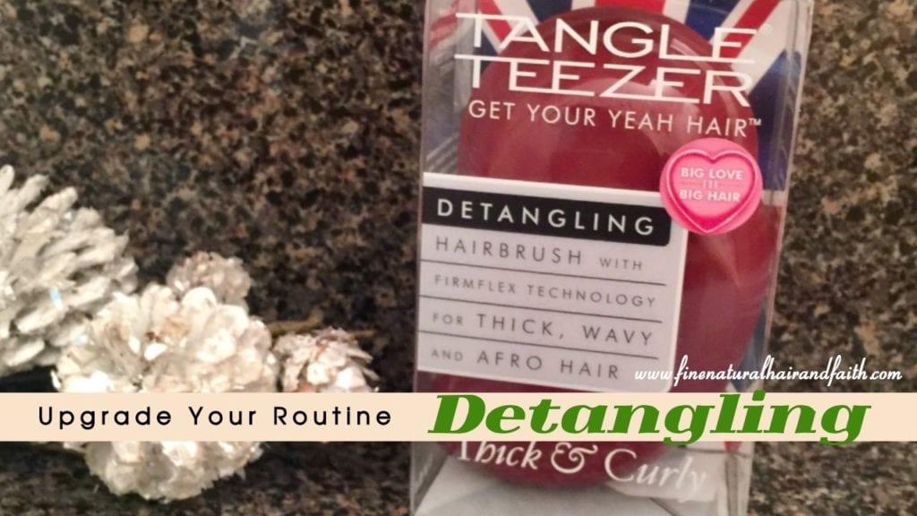 detangling fine hair with tangle tezeer