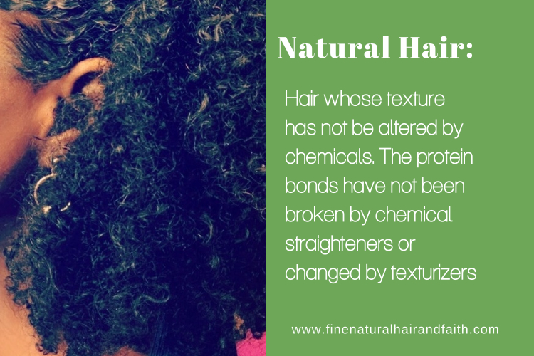 definition of natural hair