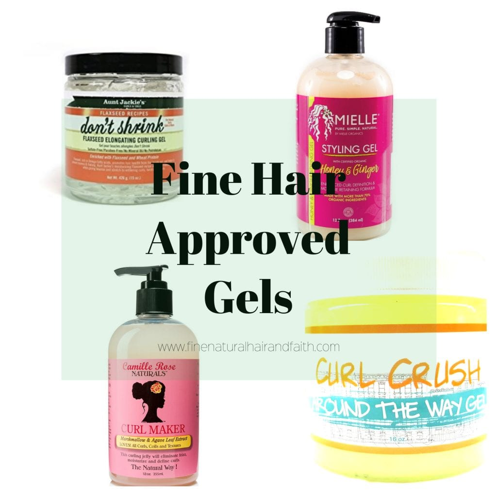 gel styling products for fine natural hair