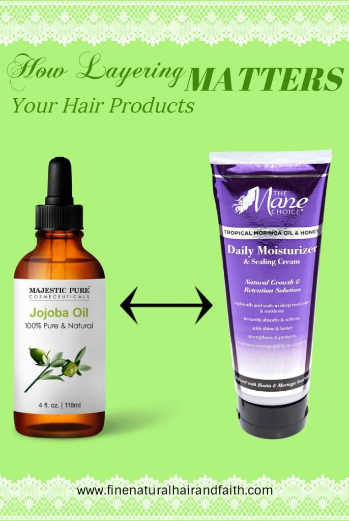 layering hair products