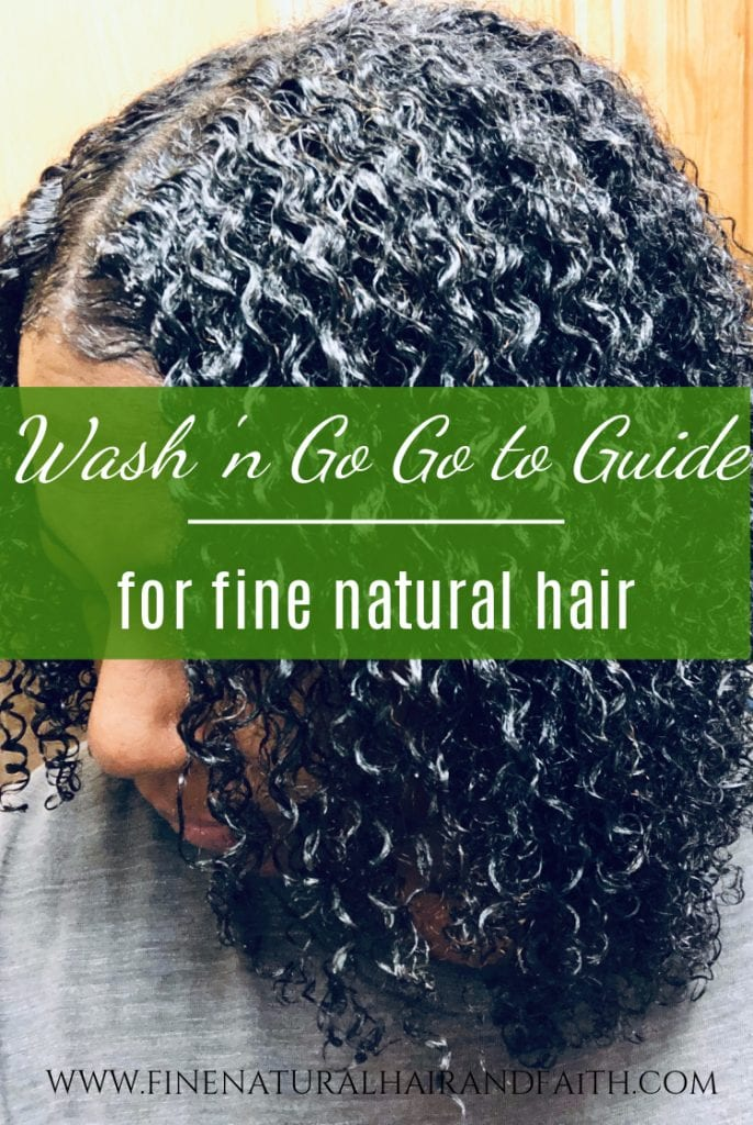 tips for doing wash and go's on fine hair