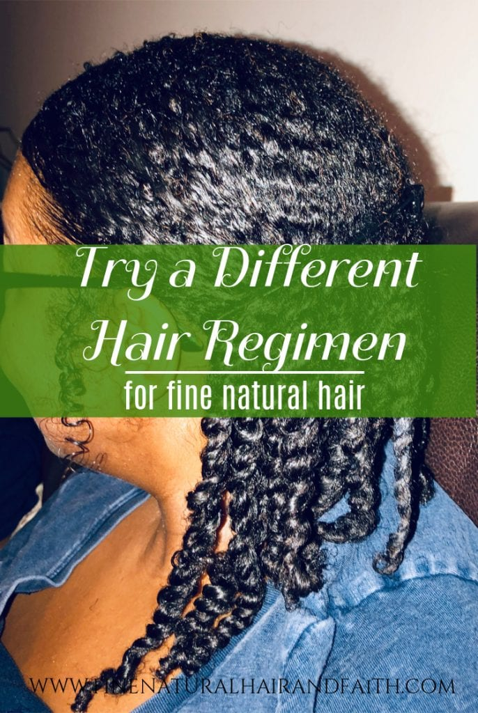 hair regimens for fine natural hair