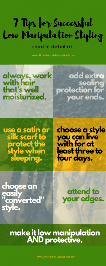 low manipulation styling tips